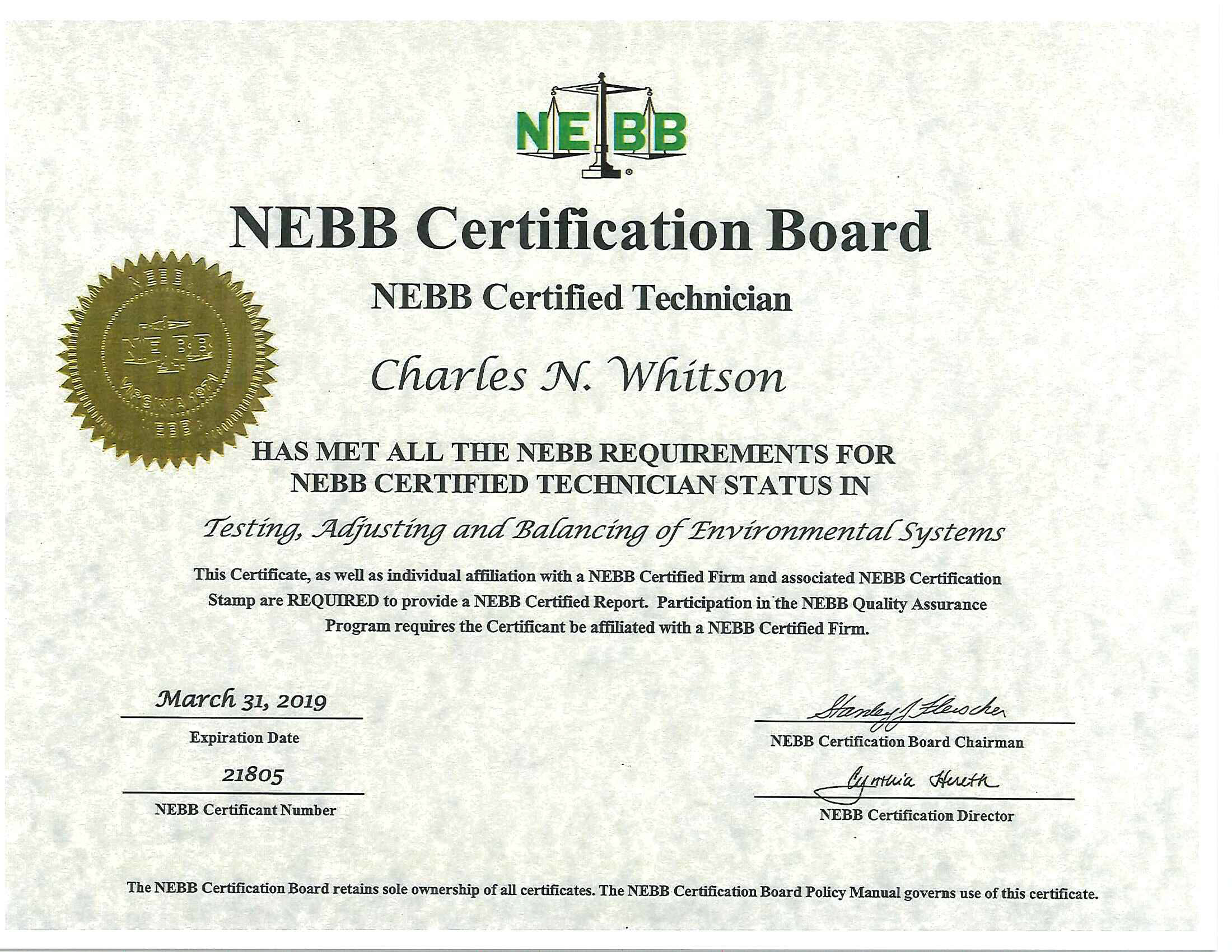 Certifications Tab Technologies